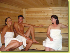 Sauna in the Pool House