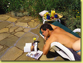 Naturist friendly, clothing optional sunbathing