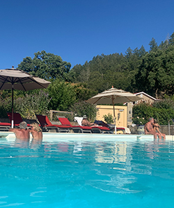 Guests enjoy our enclosed naturist friendly clothing optional pool area